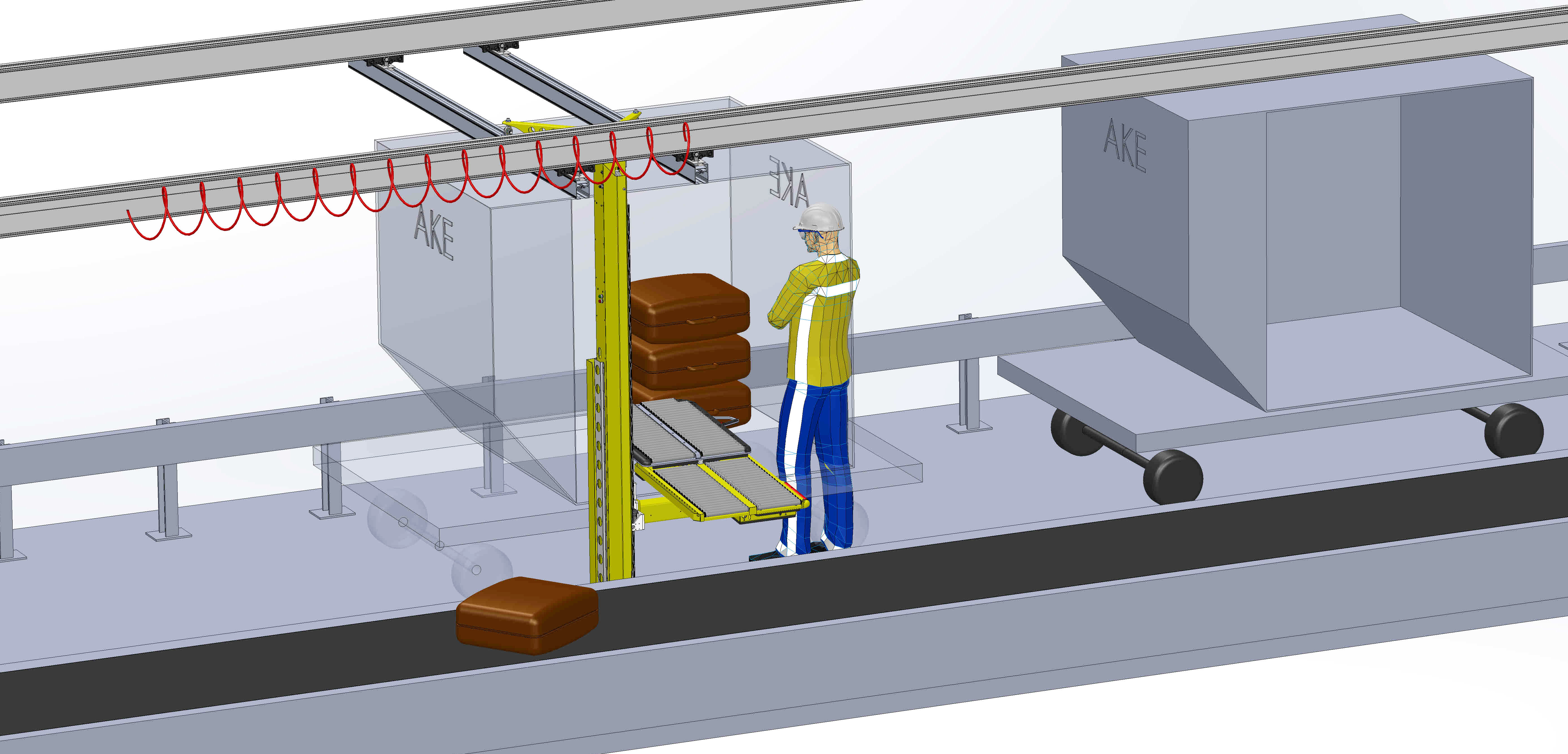 Baggage Container Unloading System CUS